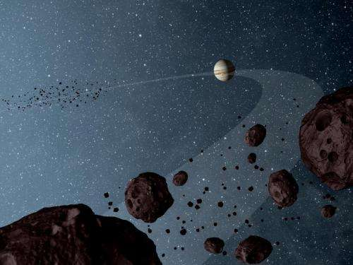 WISE colors in unknowns on Jupiter asteroids