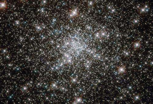 Young stars at home in ancient cluster