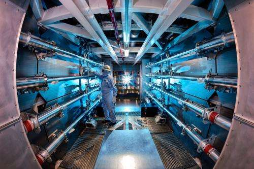 Laser fusion experiment yields record energy