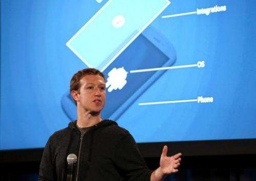Mark Zuckerberg speaks during an event at Facebook headquarters in Menlo Park, California on  on April 4, 2013