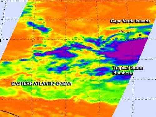 NASA investigates Gabrielle's remnants and new Tropical Storm Humberto