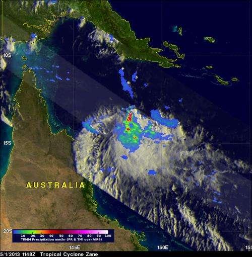 NASA measures rainfall as Cyclone Zane approaches Queensland, Australia
