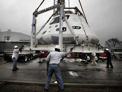 NASA's Orion Spacecraft Heads Cross Country