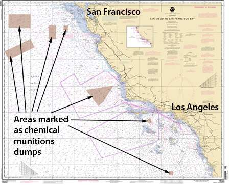 Survey of supposed deep-sea chemical munitions dump off Southern California