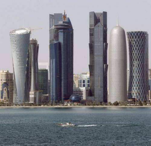 The skyline of Qatari capital Doha, pictured on January 1, 2013