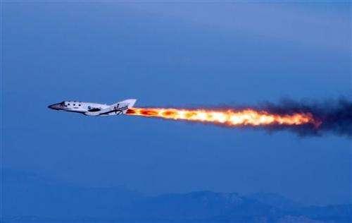 Virgin Galactic spaceship makes 1st powered flight