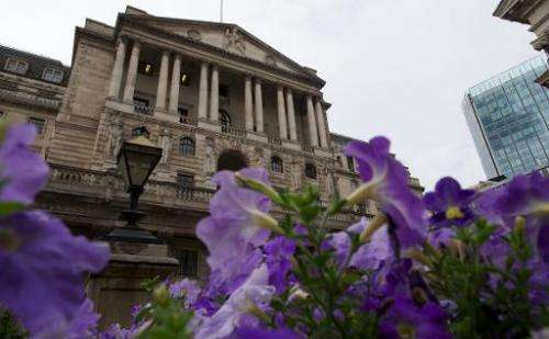 A general view of the Bank of England in London on August 7, 2013