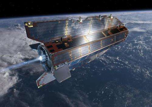 An artist's impression of the Gravity  Ocean Circulation Explorer satellite which  from 2009