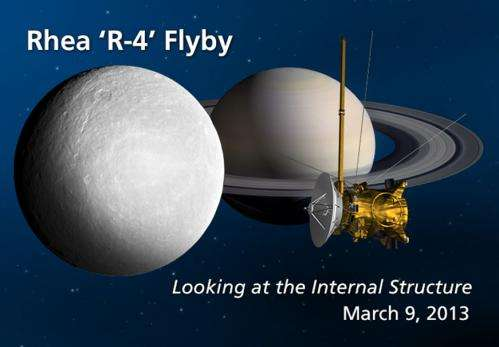 Cassini makes last close flyby of Saturnian moon Rhea