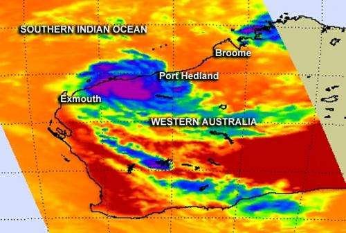 NASA catches the very brief life of Tropical Cyclone Peta