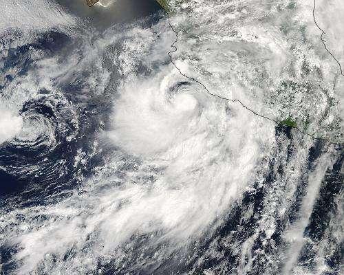 NASA's TRMM satellite sees Tropical Storm Erick along Mexican coast