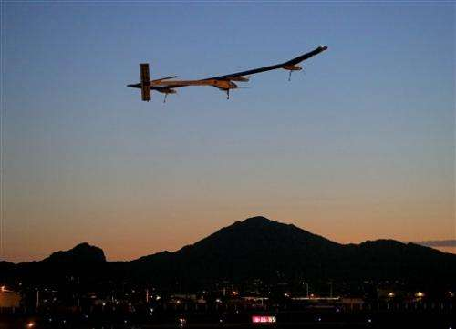Solar powered plane finishes journey, lands in NYC