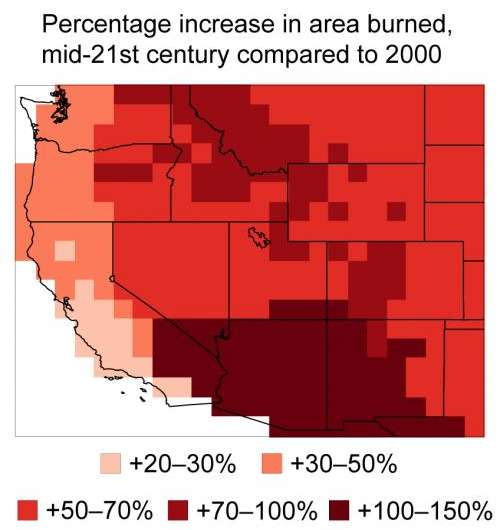 Wildfires projected to worsen with climate change