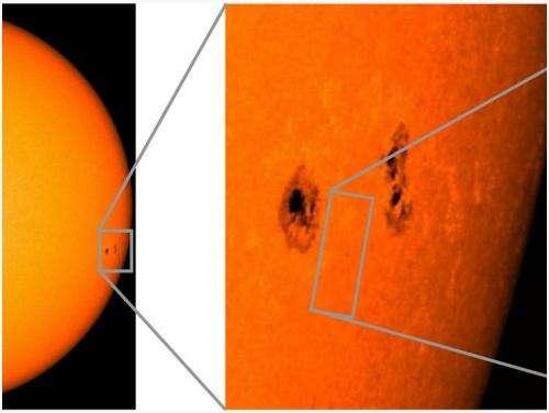 A unique glance into the Sun's atmosphere