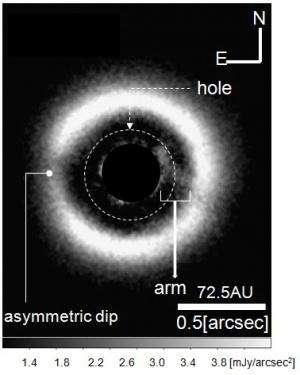 Science Results - Direct Infrared Image of an Arm in Disk Demonstrates Transition to Planet Formation