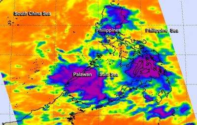 NASA sees Tropical Depression 30W affecting central Philippines