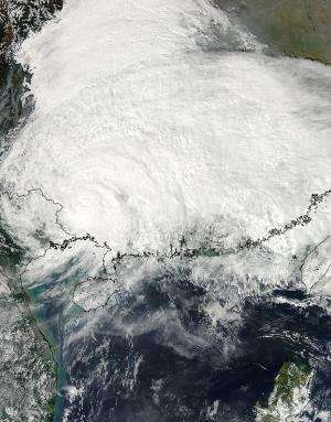 NASA satellites track Typhoon Haiyan's second landfall and flood potential
