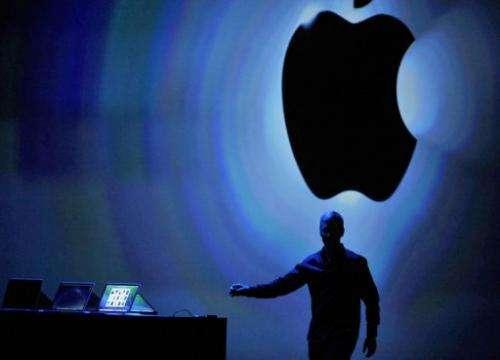 Apple CEO Tim Cook speaks at Apple's Worldwide Developer Conference (WWDC) in San Francisco on June 10, 2013