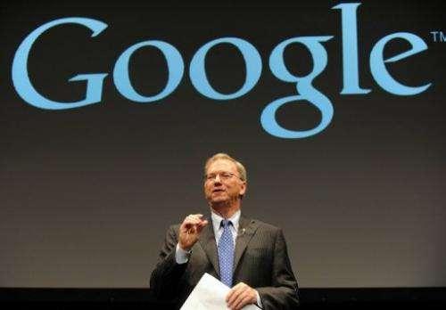 Google executive chairman Eric Schmidt speaks in Tokyo on September 25, 2012