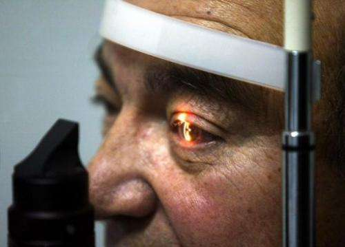 A man receives a medical checkup before surgery, in Santiago, Chile, on July 5, 2005