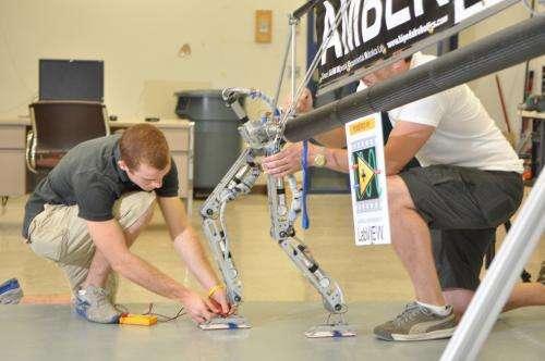 Amber 2 robot walks with a human gait (w/ Video)