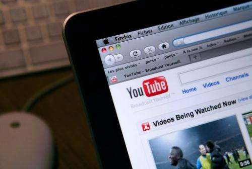 A photo of YouTube's internet homepage taken on January 27, 2010 in Paris