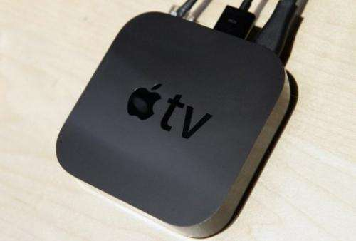 Apple TV is displayed at an Apple Special Event, September 1, 2010 in San Francisco