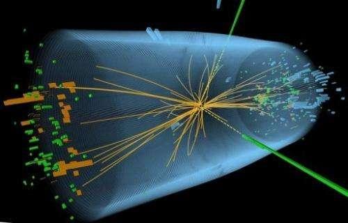A representation of traces of traces of a proton-proton collision