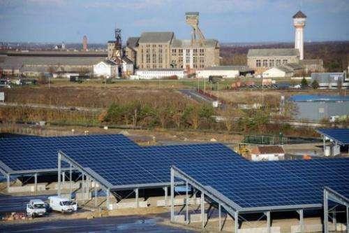 A solar power array at Ungersheim, eastern France, on December 6, 2012