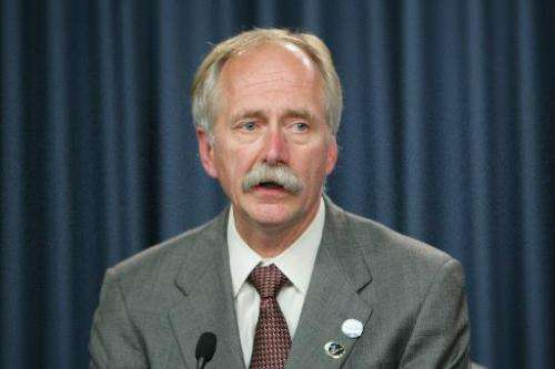 Bill Gerstenmaier speaks at the Kennedy Space Center on July 31, 2009 in Cape Canaveral, Florida