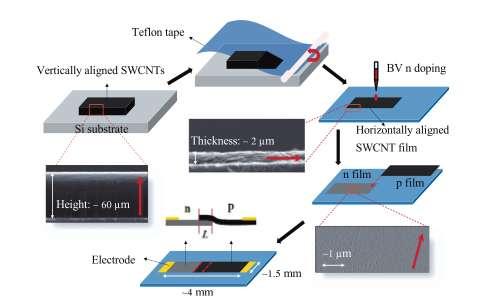 Broadband photodetector for polarized light