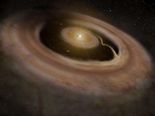 Direct Infrared Image of an Arm in Disk Demonstrates Transition to Planet Formation
