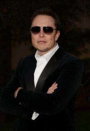 Elon Musk arrives at the 22nd Annual Environmental Media Awards on Saturday Sept. 29, 2012 in Burbank, California
