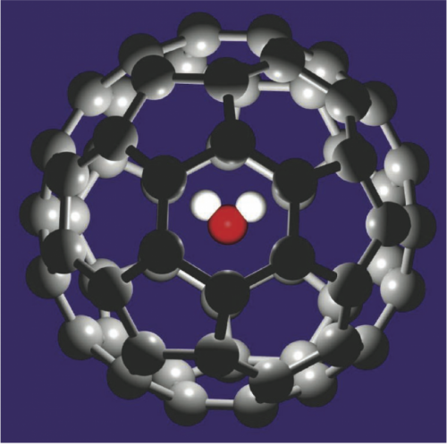 Engineers manipulate a buckyball by inserting a single water molecule