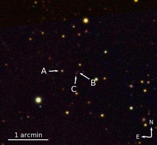 Extremely rare triple quasar found