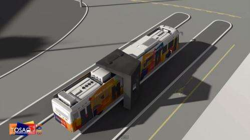New bus system tops off batteries in just 15 seconds