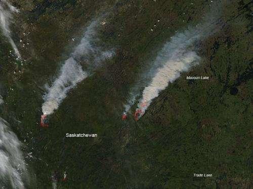Fires in northern Saskatchewan