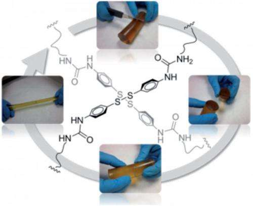First reported self-healing polymer that spontaneously and independently repairs itself