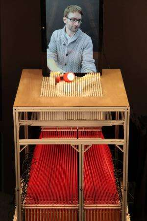 MIT group's shape display steps to new realm in interaction future (w/ Video)