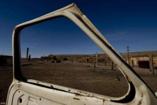 Former Humberstone saltpeter near Pozo Almonte in the Atacama Desert of Chile, pictured on November 14, 2012