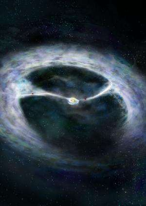 ALMA telescope shows how young star and planets grow simultaneously