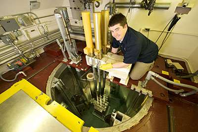 Gold used to test reactor beam quality, intensity after upgrade
