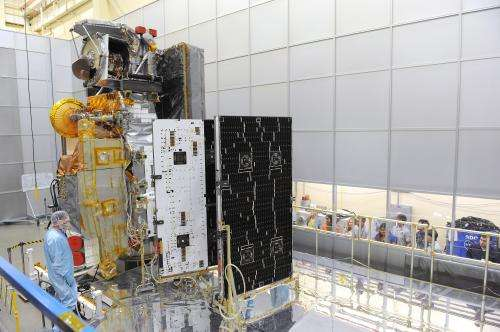 GPM spreads its wings in solar array deployment test