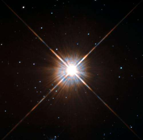 Hubble's new shot of Proxima Centauri, our nearest neighbor