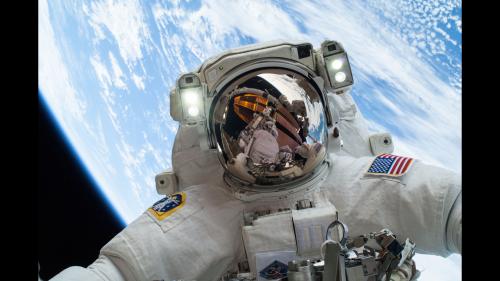 Image: Astronaut Mike Hopkins on Dec. 24 spacewalk
