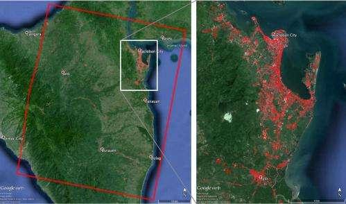 Image: NASA damage map helps in typhoon disaster response