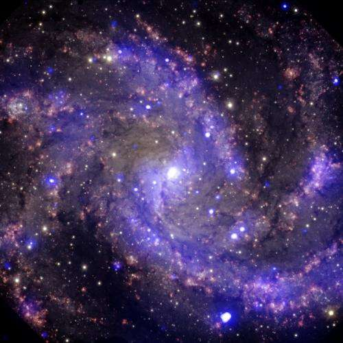 """Image: NGC 6946, """"the fireworks galaxy"""""""