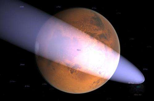 Is a comet on a collision course with Mars?