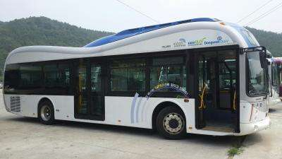 KAIST's wireless Online Electric Vehicle, OLEV, runs inner city roads