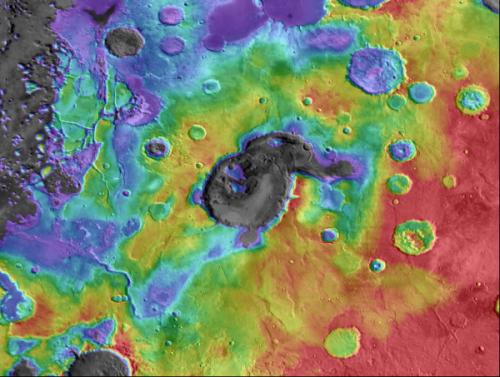 Mars crater may actually be ancient supervolcano